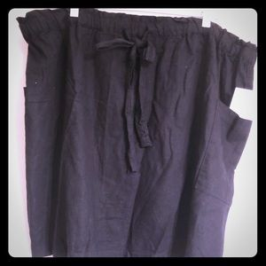 NWT Susina linen/rayon drawstring skirt w/ pockets